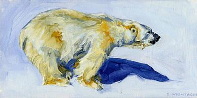 Painting - Polar Bear Inukshuk by Christine Montague