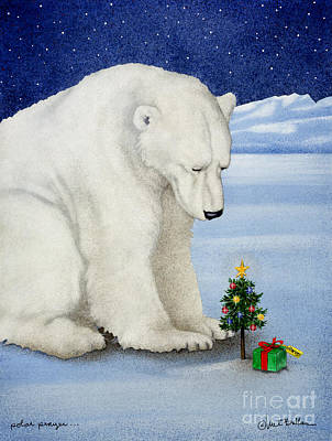 Christmas Wall Art - Painting - Polar Prayer... by Will Bullas