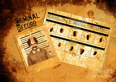 Photograph - Police Criminal Record File by Jorgo Photography - Wall Art Gallery