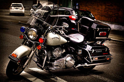 Police Cruiser Photograph - Police Harley by David Patterson