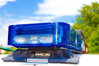 Police Lights Art Print