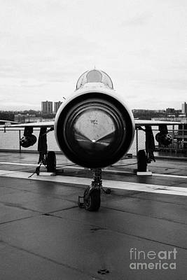 Polish Air Force Mig 21 Pfm On Display On The Flight Deck At The Intrepid Sea Air Space Museum Art Print by Joe Fox