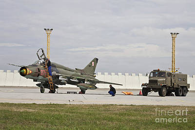 Sukhoi Photograph - Polish Air Force Su-22 Fitter by Timm Ziegenthaler