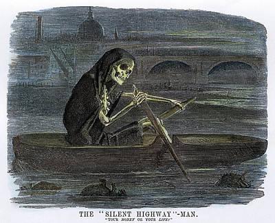 Pollution Thames River Art Print by Granger
