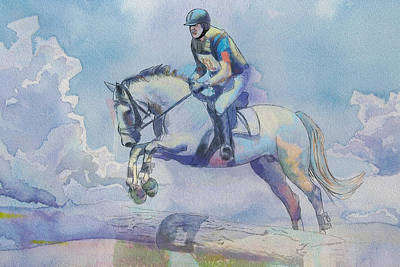 Summer Sports Painting - Polo Art by Catf