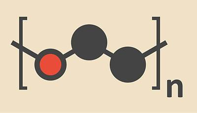 Polymer Photograph - Polyethylene Polymer Molecule by Molekuul
