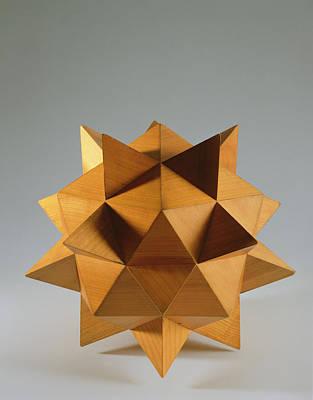 Polyhedron Wood Art Print by Italian School