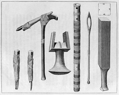Polynesian Artifacts, 18th Century Art Print