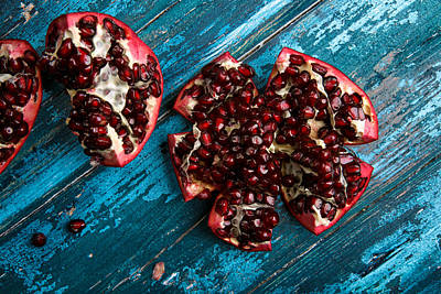 Cut Photograph - Pomegranate by Nailia Schwarz