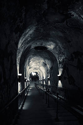 Cellar Photograph - Pommery Champagne Winery Passageway by Panoramic Images