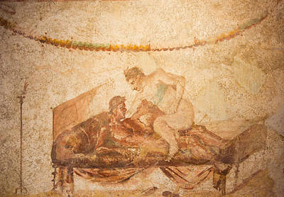 Photograph - Pompeii Fresco by Roger Mullenhour