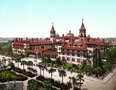 Of St. Augustine Painting - Ponce De Le�n Hotel, C1902 by Granger
