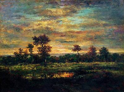 Painting - Pond At The Edge Of A Wood by Theodore Rousseau