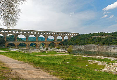 Photograph - Pont Du Gard Roman Aqueduct Near Avignon France by Marek Poplawski