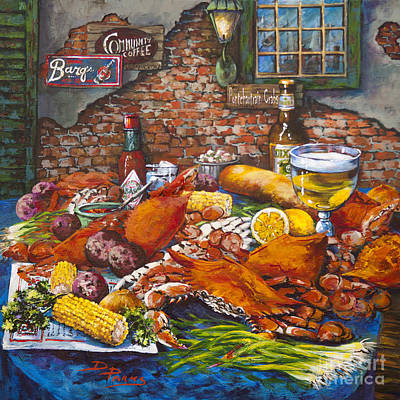 Seafood Painting - Pontchartrain Crabs by Dianne Parks