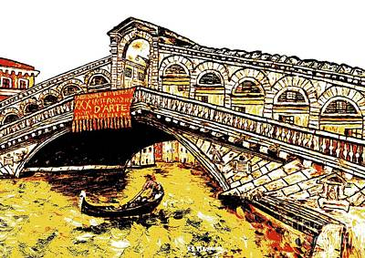 Grande Painting - An Iconic Bridge by Loredana Messina