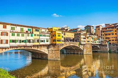 Tuscany Photograph - Ponte Vecchio In Florence by JR Photography