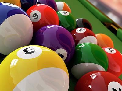 Pool Balls Photograph - Pool Balls by Leonello Calvetti