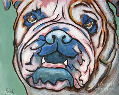 Fine Dining - Pop Art Bulldog by Robin Wiesneth