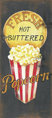 Movie Theater Painting - Popcorn by Kim Lewis