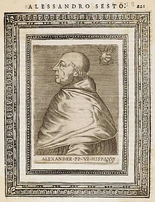 Pope Alexander Vi (roderigo Borgia) Art Print by Mary Evans Picture Library