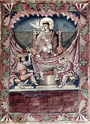 7th Century Painting - Pope Gregory I (c540-604) by Granger