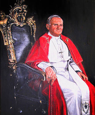 Painting - Pope John Paul II by Terry Sita