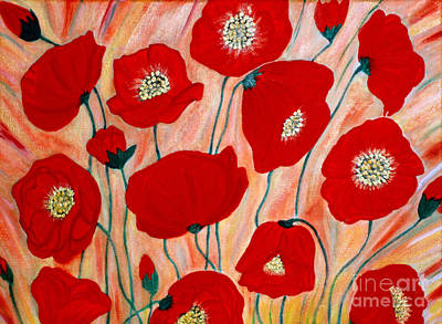 Poppies. Inspirations Collection. Art Print