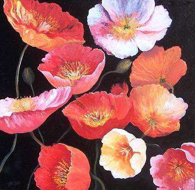 Print Of Poppy Painting - Poppies by Jan Matson