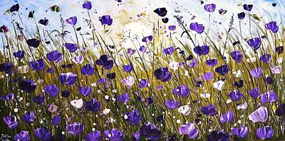 Painting - Poppis In Purple by Jolina Anthony