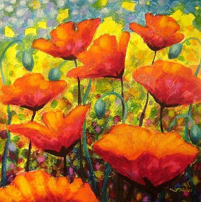 Poppy Corner Original by John  Nolan