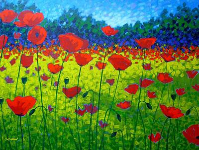 Floral Poster Painting - Poppy Field by John  Nolan
