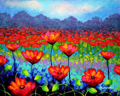Emotive Painting - Poppy Vista by John  Nolan
