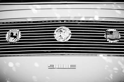 Porsche 911e Rear Emblem Print by Jill Reger