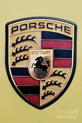 Porsche Painting - Porsche Badge by George Atsametakis
