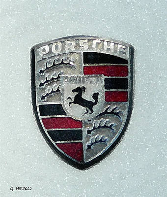 Painting - Porsche Emblem  by George Pedro