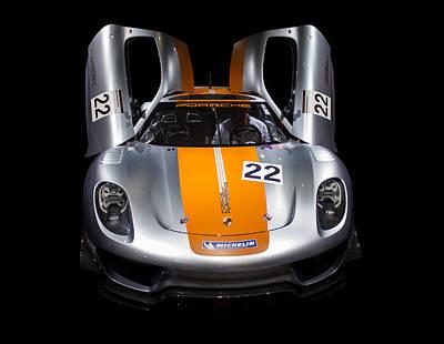 Photograph - Porsche Sport Silver Colour by Radoslav Nedelchev