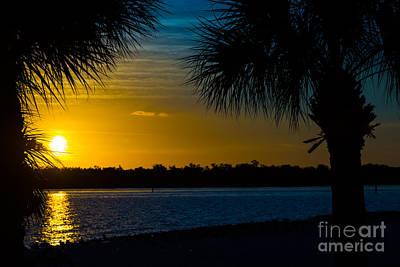 Firefighter Patents Royalty Free Images - Port Charlotte Beach Sunset in January Royalty-Free Image by Anne Kitzman