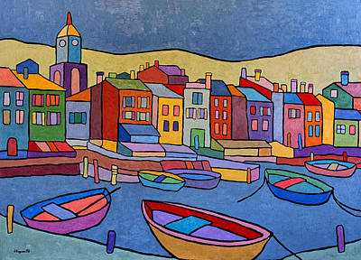 Port In Spain Art Print