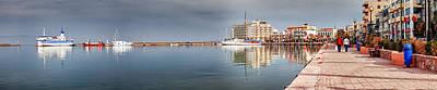 Port Of Chios Art Print