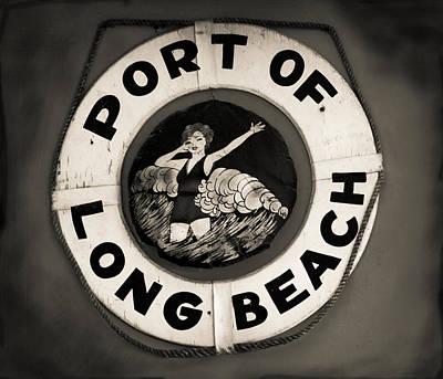 Photograph - Port Of Long Beach Life Saver Vin By Denise Dube by Denise Dube