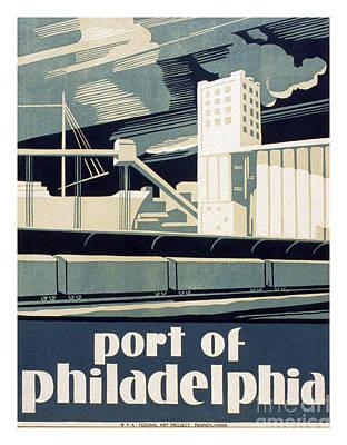 Philadelphia History Painting - Port Of Philadelphia by Pablo Romero