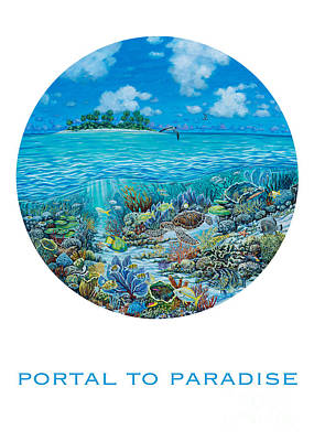 Sea Turtles Painting - Portal To Paradise by Danielle  Perry