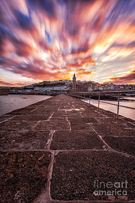 Cornish Wall Art - Photograph - Porthleven Pier by John Farnan