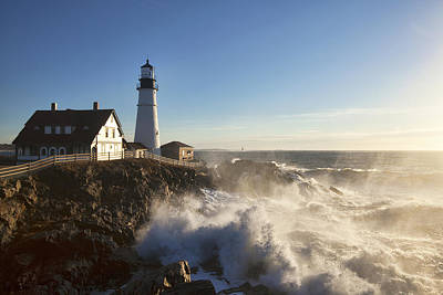 35mm Photograph - Portland Head Light by Eric Gendron