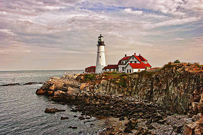 Lighthouse Photograph - Portland Head Lighthouse by Marcia Colelli