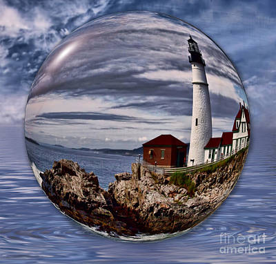 Portland Head Art Print by Shirley Mangini