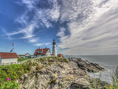 Art Print featuring the photograph Portland Headlight by Jane Luxton