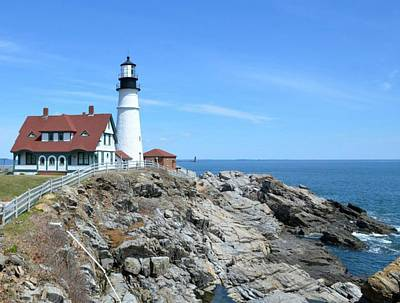 Photograph - Portland Headlight by Old Pueblo Photography