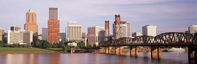 Green Boat Photograph - Portland, Oregon, Usa by Panoramic Images